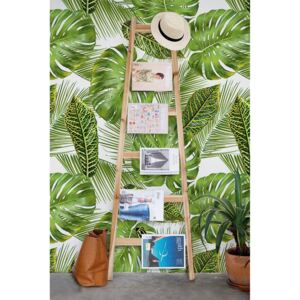 Wallpaper Large Tropical Leaves
