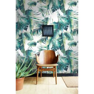 Wallpaper In The Thicket Of Turquoise Leaves