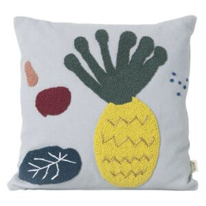 Ananas Cushion - / Embroidered - 40 x 40 cm by Ferm Living Multicoloured