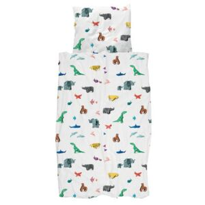 Paper Zoo Bedlinen set for 1 person - / 140 x 200 cm by Snurk Multicoloured