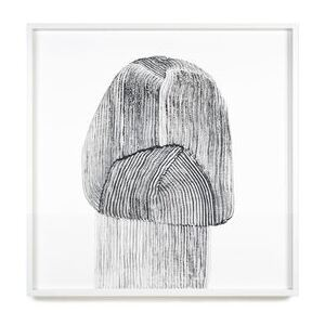 Ronan Bouroullec - Drawing 9 Framed poster - / 70 x 70 cm by The Wrong Shop Black