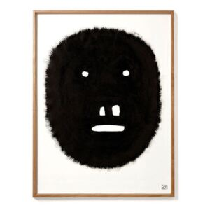 Pierre Charpin - Fat Monkey Framed poster - / Limited, numbered edition - 50.6 x 66.5 cm by The Wrong Shop Black