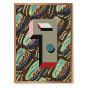 Nathalie du Pasquier - Mars 1937 Framed poster - / Limited, numbered edition - 52,4 x 72,4 cm by The Wrong Shop Multicoloured