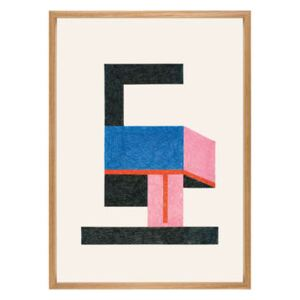Nathalie du Pasquier - Froid Framed poster - / 49,5 x 69,5 cm by The Wrong Shop Multicoloured