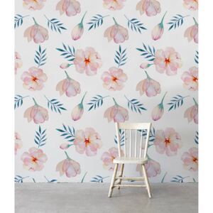 Wallpaper In The Midst Of Pink Flowers