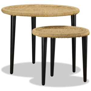 Coffee Table Set 2 Pieces Natural Jute