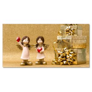 Glass Print Holy Angels Christmas Gifts 30x60 cm