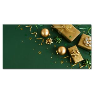 Glass Wall Art Gifts Winter Holiday Decorations 30x60 cm