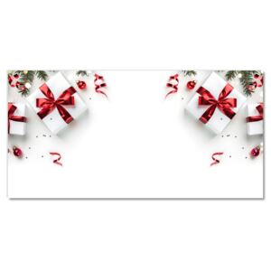 Glass Print Holy Christmas Gifts Twigs 30x60 cm