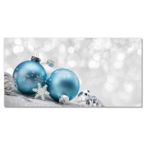 Glass Wall Art Baubles Winter Holiday Decorations 30x60 cm