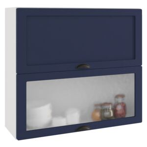 FURNITOP Upper Cabinet ADELE W60 GRF/2 SD navy blue