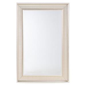 Wall Hanging Mirror Gold 60 x 90 cm Synthetic Frame Modern Glam Style Living Room Bedroom Beliani