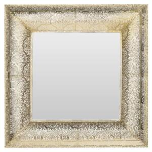 Wall Mounted Hanging Mirror Gold 60 cm Square Decorative Frame Accent Piece Beliani