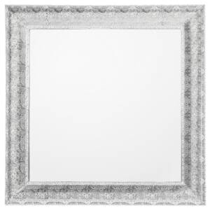 Wall Mounted Hanging Mirror Silver 65 cm Square Decorative Frame Beliani