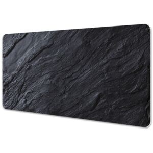 Large desk mat table protector black marble 45x90cm