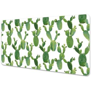 Full desk protector painted cacti 45x90cm