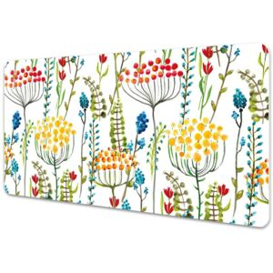 Large desk mat table protector colorful meadow 45x90cm