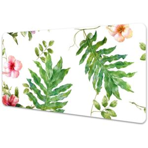Desk pad Leaves and flowers 45x90cm