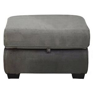 Compact Collection Midi Fabric Storage Footstool - Grey