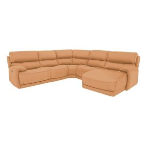 Link Leather Corner Chaise Power Sofa