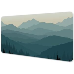 Large desk mat table protector View of the mountains 45x90cm
