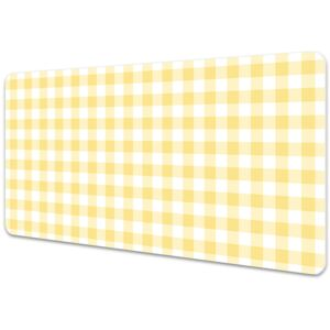 Large desk mat for children yellow grille 45x90cm