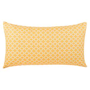 Patio Cushion Yellow Pattern Fabric 40 x 70 cm Water Resistant Removable Cover Beliani