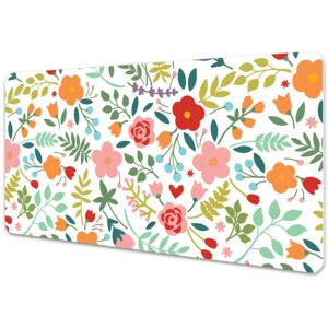 Full desk protector Picture with flowers 45x90cm