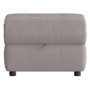 Link Leather Footstool - Grey- World of Leather