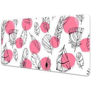 Full desk mat Feathers and dots 45x90cm
