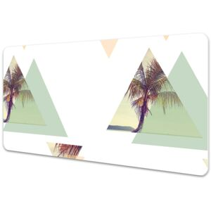 Desk mat Palm trees in triangles 45x90cm