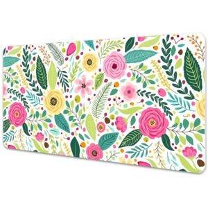 Full desk protector colorful flowers 45x90cm