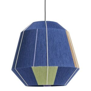 Bonbon Large Lampshade - / Ø 50 cm - Hand-woven wool by Hay Blue