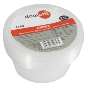 Set of 4 round containers OMNIA 0.3L