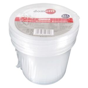 Set of 4 round containers OMNIA 0.44L