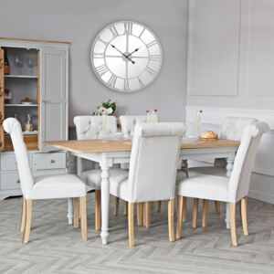 Ashbourne Grey Painted 1.4m Extending Dining Table
