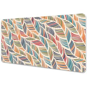 Large desk mat table protector colorful waves 45x90cm