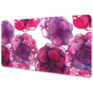 Large desk mat table protector Red roses 45x90cm