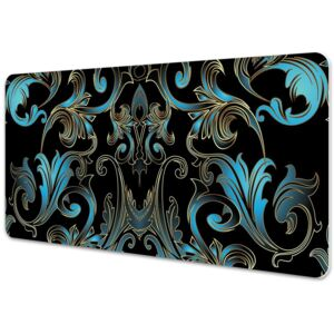 Large desk mat table protector baroque pattern 45x90cm