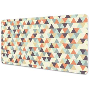 Large desk mat table protector small triangles 45x90cm