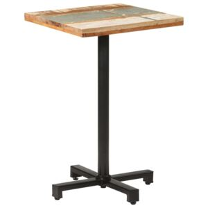 VidaXL Bistro Table Square 50x50x75 cm Solid Reclaimed Wood