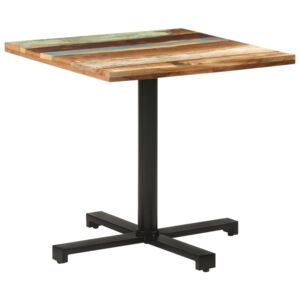 VidaXL Bistro Table Square 80x80x75 cm Solid Reclaimed Wood