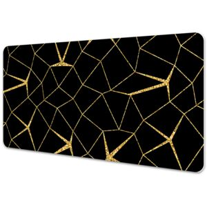 Full desk protector Mosaic gold and black 45x90cm