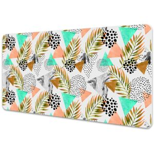 Desk pad Dots and leaves 45x90cm