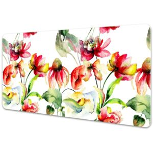 Large desk mat table protector Wild Flowers 45x90cm