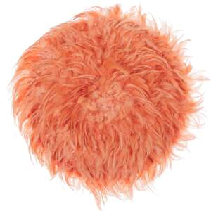 Wall Decoration Coral Red Feathers Round 60 cm Boho Accent Design Living Room Decor Beliani