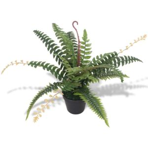 Artificial Fern Plant with Pot 50 cm Green