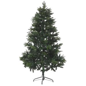 Artificial Christmas Tree Green 180 cm Synthetic Hinged Branches Black Metal Stand Holiday Beliani