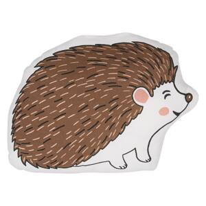 Kids Cushion Brown Cotton Fabric Hedgehog Shaped Pillow with Filling Soft Children's Toy Beliani