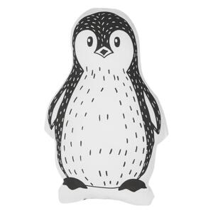 Kids Cushion Black and White Fabric Penguin Shaped Pillow with Filling Soft Children's Toy Beliani